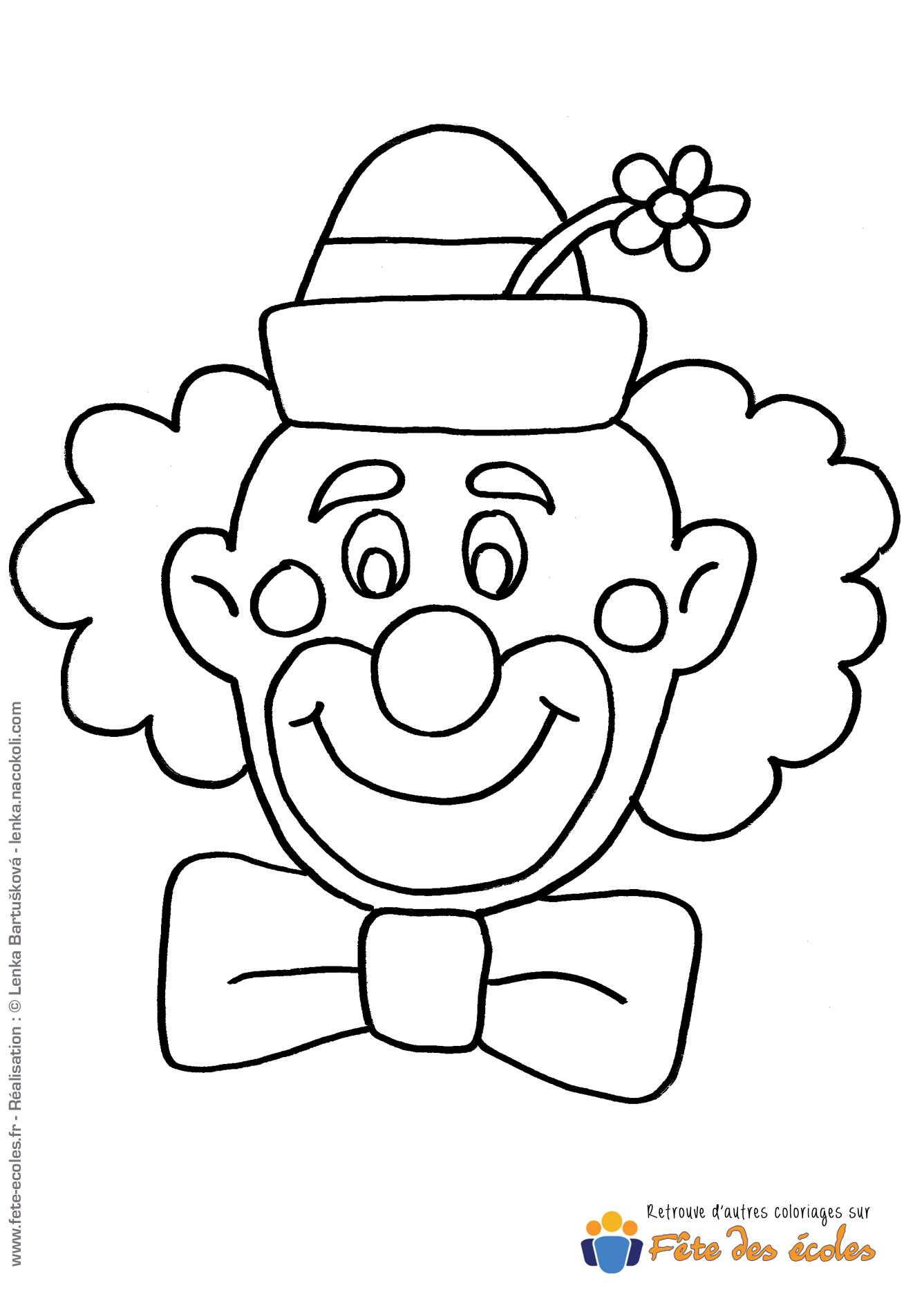 Coloriage Clown Voiture.Coloriage Tete De Clown