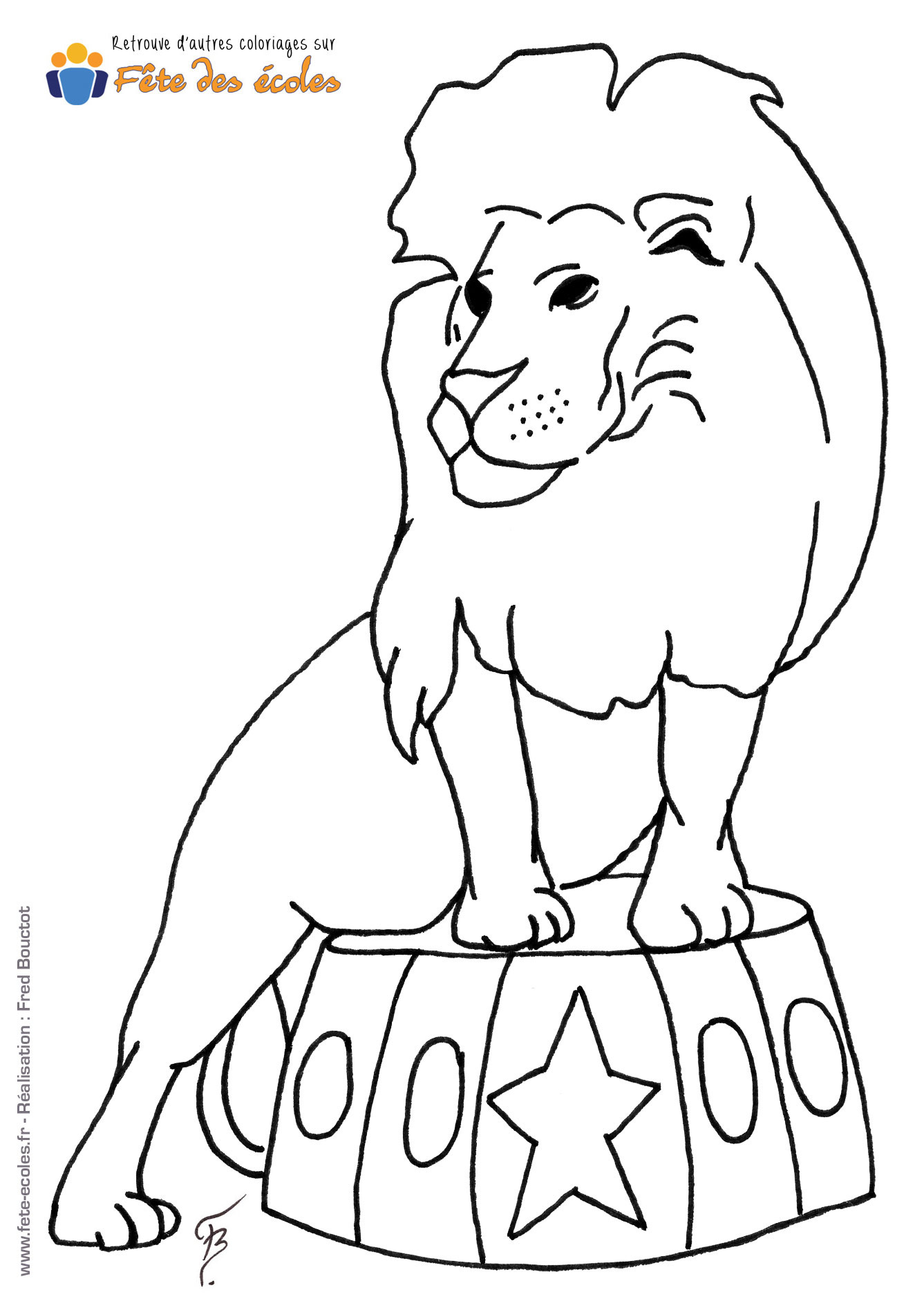 Coloriage enfant clown qui tient ballon - Coloriages lion ...