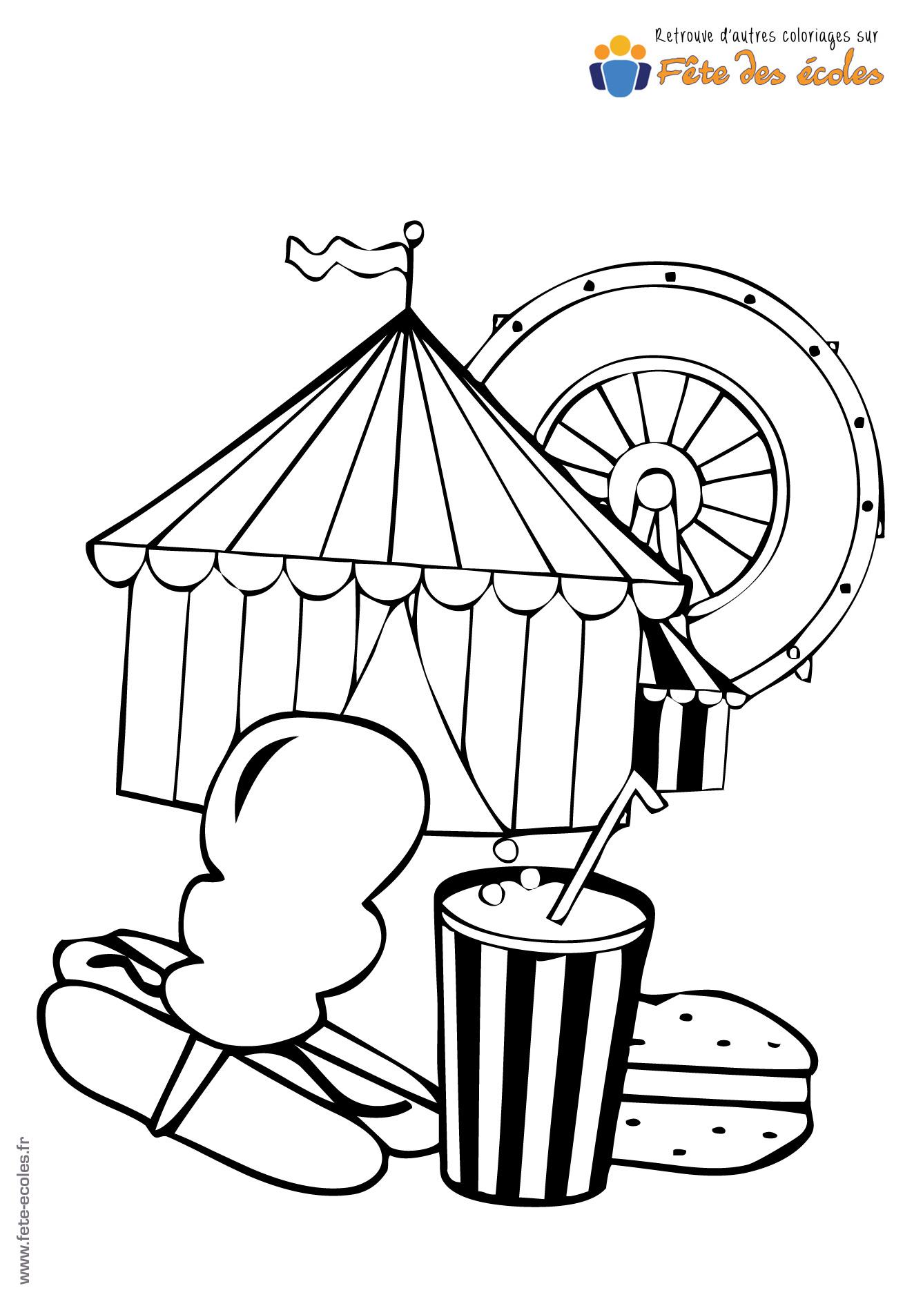 Coloriage la panoplie pour aller au cirque - Coloriages cirque ...