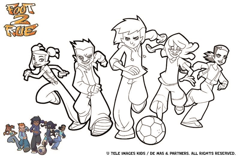 La team de foot de rue - Coloriage de foot ...