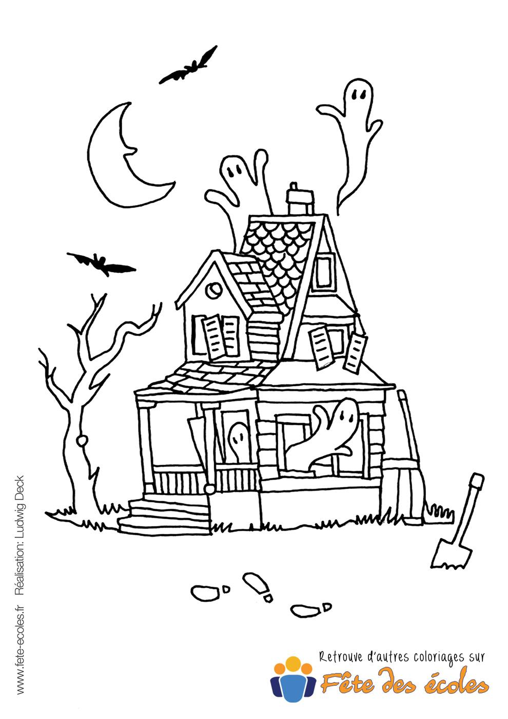 La maison hant e - Dessin de maison hantee ...