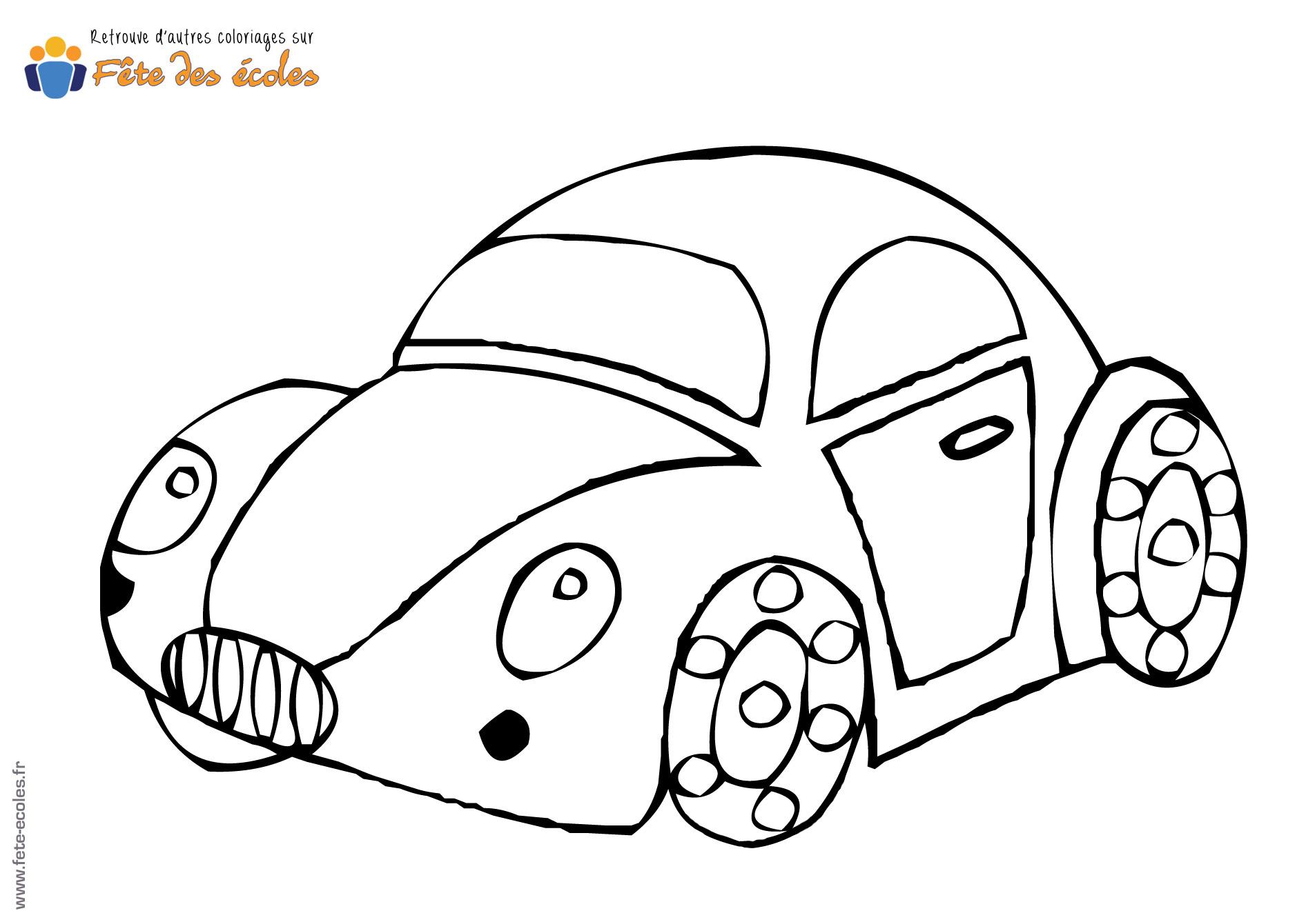 Coloriage Coccinelle Volkswagen.La Voiture Coccinelle