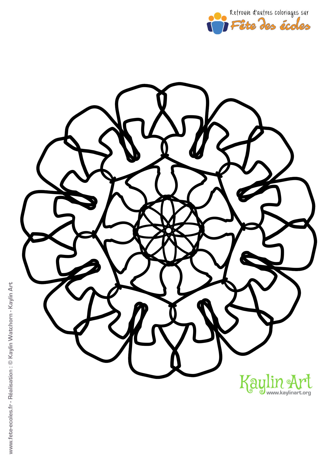 Coloriage Mandala Fleur rosace