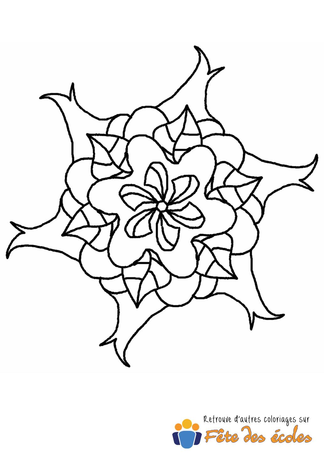 Coloriage Etoile Mandala.Coloriage De Mandala Etoile