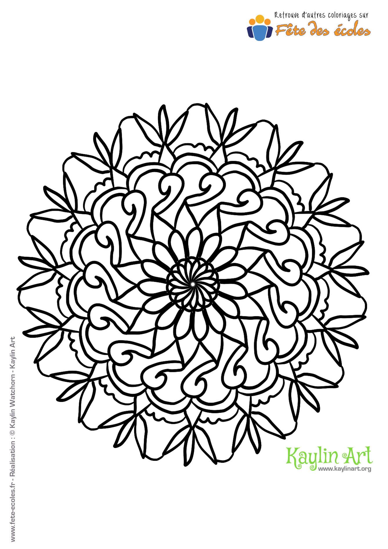 Coloriage Zen Ecole.Coloriage Mandala Rosace