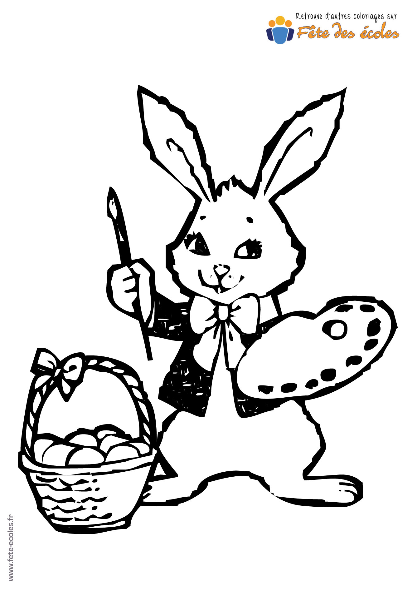 Coloriages dartiste - Coloriages lapin ...