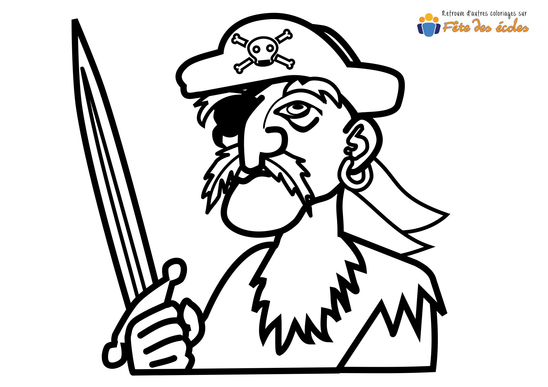 Coloriage De Cochon Pirate.Sebastien Martin