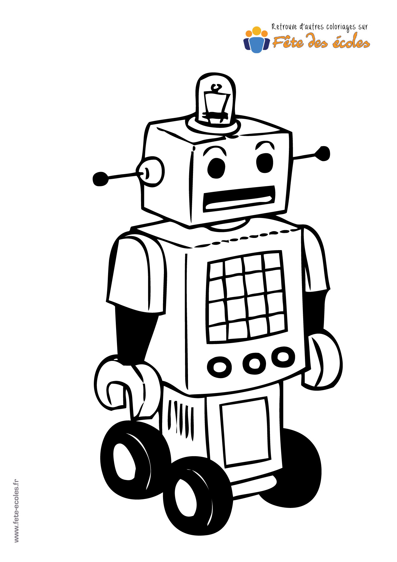 Coloriage Robot Fille.Coloriage D Un Robot A Roulettes