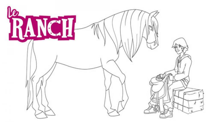 Coloriage Cheval Le Ranch.Coloriage Le Ranch Hugo Sa Jument Reglisse