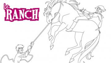 Coloriage Cheval Le Ranch.Coloriages Le Ranch