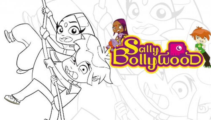 Coloriage de Sally Bollywood et Doowee