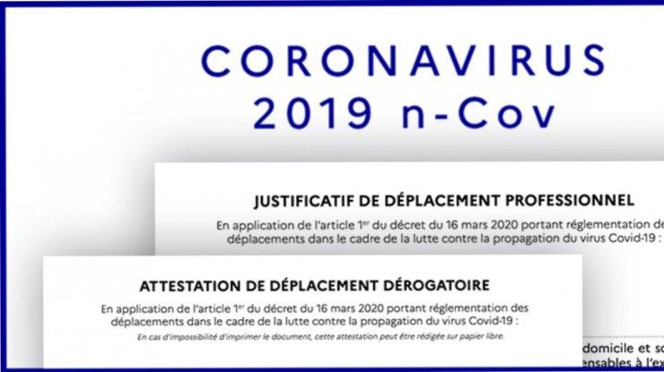 Nouvelle attestation de déplacement dérogatoire COVID-19