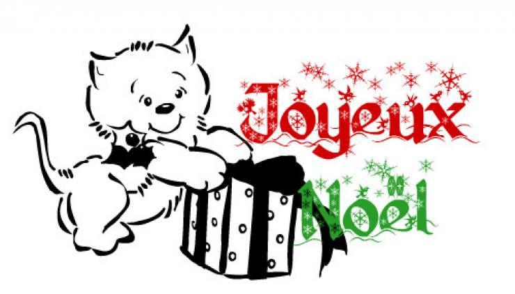 Coloriage Chat Cadeau.Afficher Les Elements Par Tag Noel