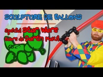 Réalise le sabre laser de Darth Maul : sculpture de ballons