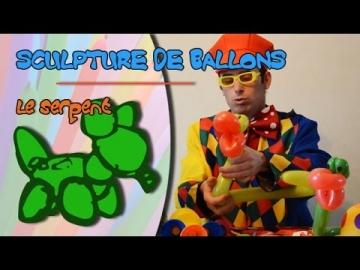 Faire un serpent en sculpture de ballons