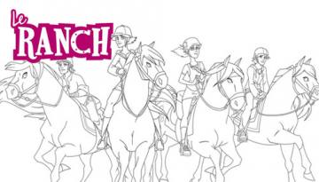 Coloriage Cheval Le Ranch.Coloriages Dessin Anime Le Ranch