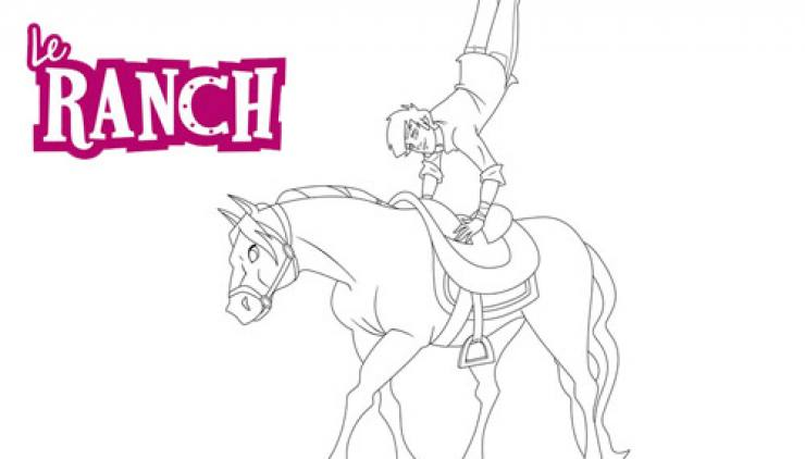 Coloriage Le Ranch : Angelo fait une figure