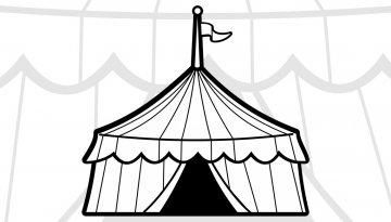 Coloriages cirque - Dessin d un chapiteau de cirque ...