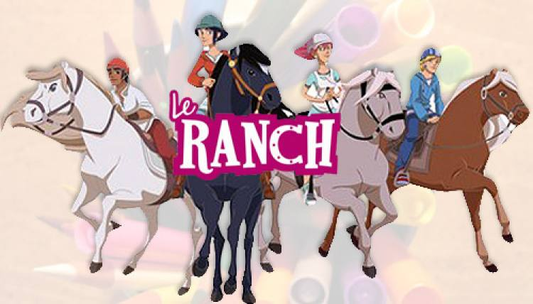 Coloriages dessin anim le ranch - Dessin du ranch ...