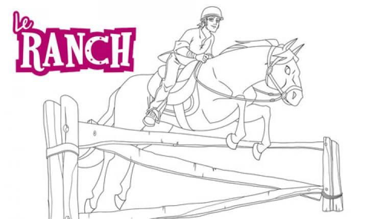 Coloriage Cheval Concours.Sila Et Angelo Le Ranch En Saut D Obstacle