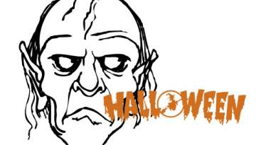 Coloriages halloween - Coloriage mort vivant ...