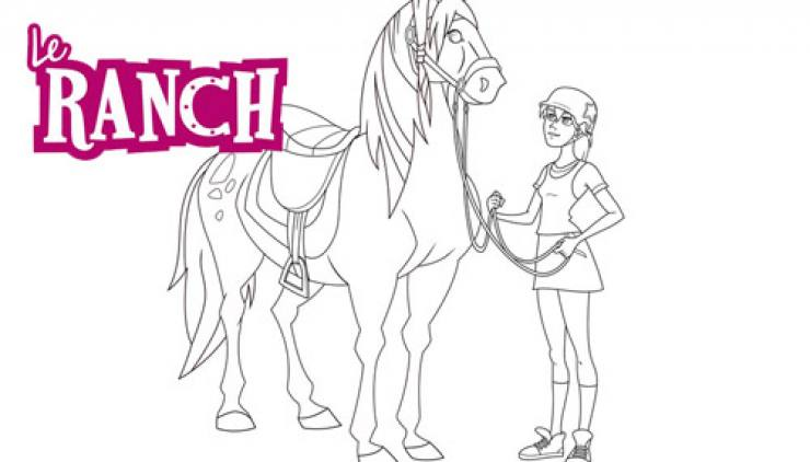 Coloriage Le Ranch : Anaïs attelle Josephine