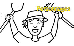 COLORIAGE : Personnages
