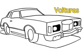 COLORIAGE : Voitures