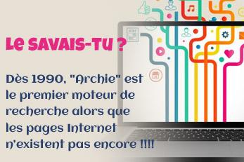 LE SAVAIS-TU ? : Les moteurs de recherche