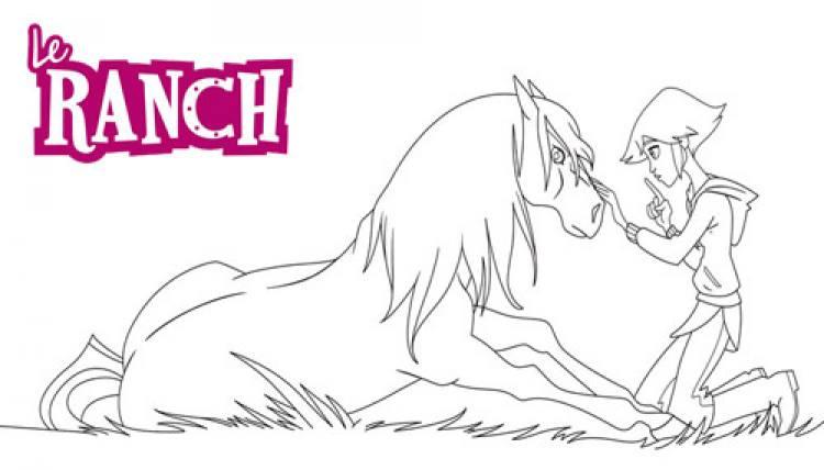 coloriage le ranch  léna chuchote à mistral